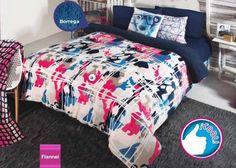 Catálogo de Blancos: Cobertor flannel extra suave con borrega Grafitti Individual / Matrimonial - ¡Disponible en Kichink!