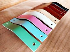 Leather Pulls, Drawer, Cabinet, Dresser, Door Handles. Leather Kitchen Pulls, Leather Cupboard Handles, Leather Knobs - 1 inch - DIY Straps