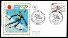 Timbre : XIe JEUX OLYMPIQUES D'HIVER - SAPPORO 1972   WikiTimbres