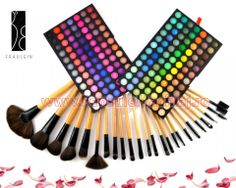 Trusa Farduri 168 culori Fraulein38 LolliPop 01 + 24 pensule machiaj lemn lacuit Art Supplies