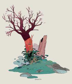 """stevensugar:  """" A Dead Tree  """""""