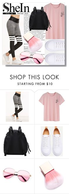 """""""Shein Leggings"""" by emmy-124fashions ❤ liked on Polyvore featuring Balmain"""