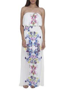 Arden B. Women's Hawaiian Print Chiffon Dress S Multi Colored