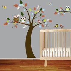 Boys Nursery Tree and Branch Vinyl Wall Decal by wallartdesign, $115.00