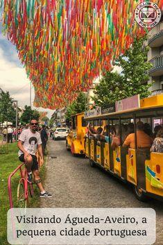 Águeda é uma pequena cidade Portuguesa localizada a 25km de Aveiro e se tornou um importante ponto turístico português através de sua arte e cultura  #agueda #portugal #turismo #chapeuscoloridos #arteurbana