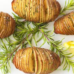 These Hasselback Potatoes with Lemon and Rosemary will have your family, friends and guests marveling at the beautiful presentation and amazing flavor.