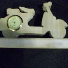 Wooden handmade scooter miniature desk clock by Fine Crafts on Opensky
