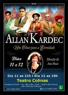 Peça Teatral Allan Kardec - Um Olhar para a Eternidade - São José dos Campos - SP - http://www.agendaespiritabrasil.com.br/2016/06/06/peca-teatral-allan-kardec-um-olhar-para-eternidade-sao-jose-dos-campos-sp/