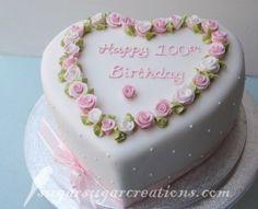 heart-shaped 100th birthday. <3