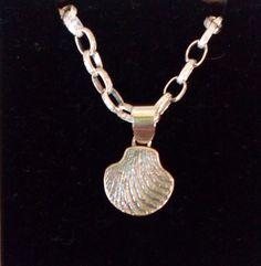 Handmade cuttlefish casting pendant