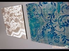▶ DIY Easy Water Color Lace Art - YouTube