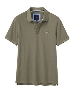 Men's Classic Pique Polo in Soft Khaki from Crew Clothing