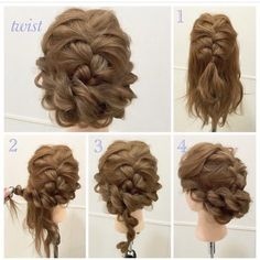 French Braids for Short Hair All of them look unusual and romantic, they emphasize the individuality of their economic activities. As a rule, it cause. Messy Hairstyles, Pretty Hairstyles, Wedding Hairstyles, Bridesmaid Hair, Prom Hair, Hair Arrange, Braids For Short Hair, Pinterest Hair, Hair Dos