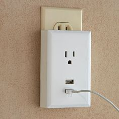 USB Wall Plate Charger -$17.95- Everyone will want one! Add USB ports to your wall outlets, no wiring required Easily add two USB ports to any existing wall outlet by simply plugging in this USB Wall Plate Charger. The unique design allows you to charge two mobile devices at once while leaving one three prong outlet available for use. The bottom USB port supplies a steady 2.1 Amps to charge iPad's and all other heavy electrical drawing tablets.