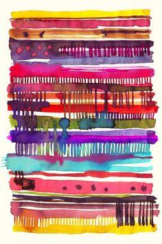 My knitting watercolor Art Print | I wanna make some Watercolor Art!