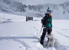 Splitboarding in the alpine back country – Fletcher Mountain in the background. | woolx.com