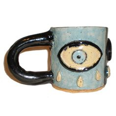 Eye Cup 48 With Three Large Crying Eyes by aberrantceramics