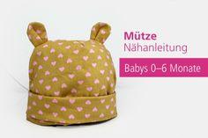 PDF Baby Mütze Ohren Babymütze Nähanleitung Beanie