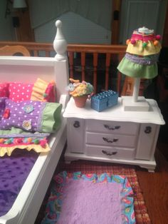 This is a night stand from a jewelry box for this American Girl Doll room