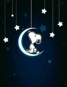 Snoopy moon and stars Snoopy Love, Snoopy And Woodstock, Clean Funny Memes, Funny Minion Memes, Minions Quotes, Peanuts Cartoon, Peanuts Snoopy, Goodnight Snoopy, Snoopy Images