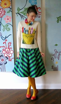 Cassie Stephens: What the Art Teacher Wore- I want to make this sweater!