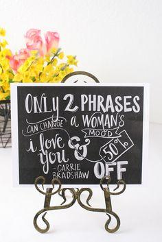 Two Phrases Print