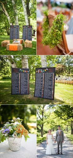 More views of the Rustic Wedding set-up