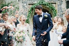 The groom wears a blue Cad and The Dandy bespoke three piece suit at this Country House Wedding | Love My Dress® UK Wedding Blog www.cadandthedandy.co.uk