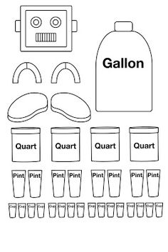 "A clever ""robotic"" Gallon Man Template teaches elementary"