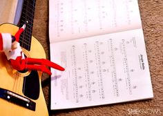 Elf on the Shelf Ideas - Elf Playing the Guitar