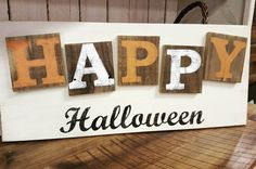 Happy Halloween Rustic sign by FarmFreshCollections on Etsy