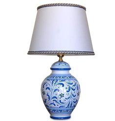 Lume in ceramica di Caltagirone, h38 - Lampade da Tavolo - Illuminazione - Arredamento
