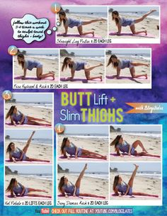 Butt Lift & Slim Thighs Printable - Blogilates: Fitness, Food, and lots of Pilates