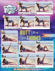 Butt Lift & Slim Thighs via @Blogilates