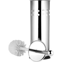 Aurther Toilet Brush Holder, Chrome, Silver