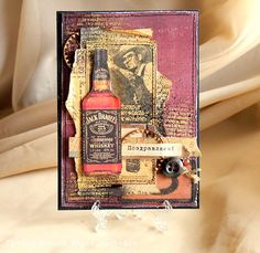 Добрый день. Я, наверное,единственный скрапер, который накануне пасхи ловит кайф от создания мужских открыток про виски:) ну не вдохновляе... Diy Cards, Men's Cards, Pretty Cards, Masculine Cards, Card Tags, Making Ideas, Cardmaking, Envelope, Projects To Try