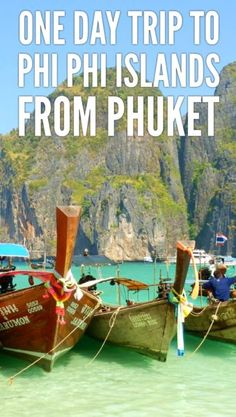 One-day trip from Phuket to Phi Phi islands: what to do