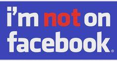 No yo no tengo #facebook.  #redes #redessociales #socialmedia
