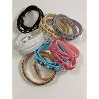 Wikkelarmbanden diverse kleuren met steentjes