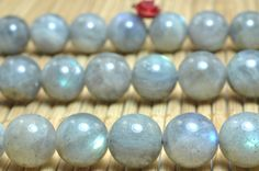 37 pcs of A Grade--Natural Labradorite smooth round beads in 10mm (6938#)