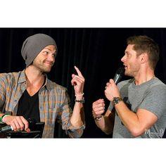 Jensen Ackles and Jared Padalecki : J2 Panel, Creation Entertainment Supernatural Convention, Dallas, Texas, 18 Sep 2016. #jensenackles #jaredpadalecki #Supernatural #dallascon #spndallas #creationent