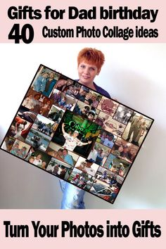 Dads 40th birthday. Memorable photo collage, gift ideas for 40 year old Dad who have everything