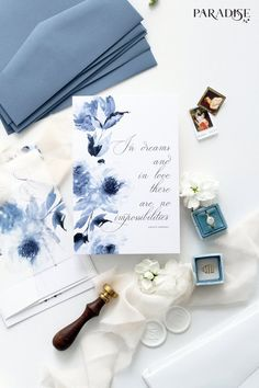 Invitation Kits, Wedding Invitation Sets, Printable Wedding Invitations, Wedding Stationery, Latest Fonts, Stationery Printing, Blue Envelopes, Small Cards, Envelope Liners