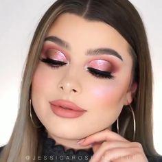 White Eye Makeup, Rose Gold Makeup, Colorful Eye Makeup, Eye Makeup Art, Smokey Eye Makeup, Makeup Eyes, Full Makeup, Eyeshadow Makeup, Hair Makeup
