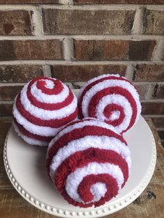 This listing is for a set of 3 large red and white swirl ornaments. The ornaments are about 5 inches in diameter. There is a hook to attach a ornament hanger to if you would like. These are ready to ship! Thank you for visiting my shop! Christmas Ribbon, Christmas Wreaths, Christmas Crafts, Christmas Ornaments, Christmas Ideas, Skeleton Decorations, Halloween Decorations, Christmas Decorations, White Ornaments