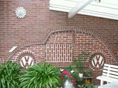 Brick wall w/ VW Bug in relief...how cool!