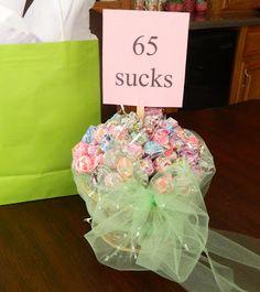 birthday gift of suckers