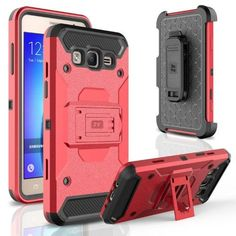 Zizo Tough Armor Cover for Samsung Galaxy On5 G550 w/ [Heavy Duty Kickstand] Holster Clip and a [Shockproof Dual Layer Case] Strong Protective Slim, Black