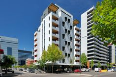 The world's tallest timber residential building, Lend Lease's Forté in Melbourne's Victoria Harbour has won the 2014 API award for Environmental Excellence. Architecture Today, Wood Architecture, Sustainable Architecture, Wooden Skyscraper, Timber Buildings, Design Competitions, Green Building, House Design, Lend Lease