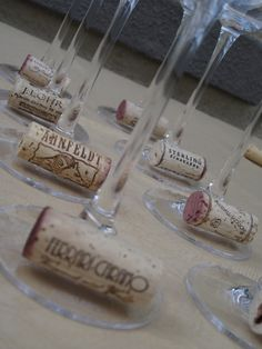 what a great idea for using wine corks at parties!!